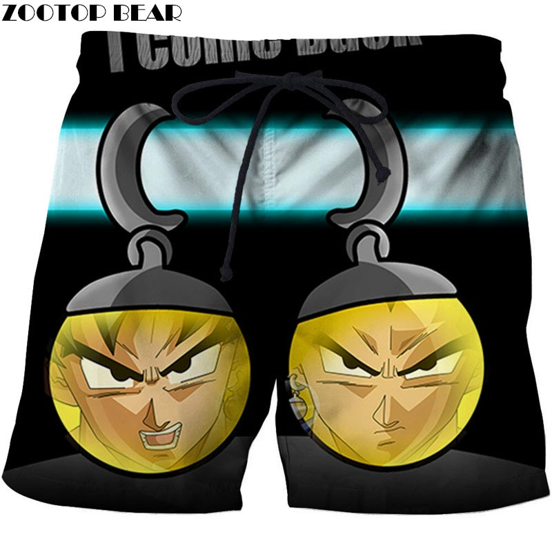 Man In The Ball Dragon Ball Men Anime 3D Printed Beach Shorts Casual 2019 New Summer Male Quick Drying Board Shorts ZOOTOP BEAR