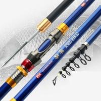 Super Hard Carbon Fiber Rock Fishing Rod Set with Reel Stream River Seapole Ultra Light Throwing Power Hand Rod 2.1 4.5m