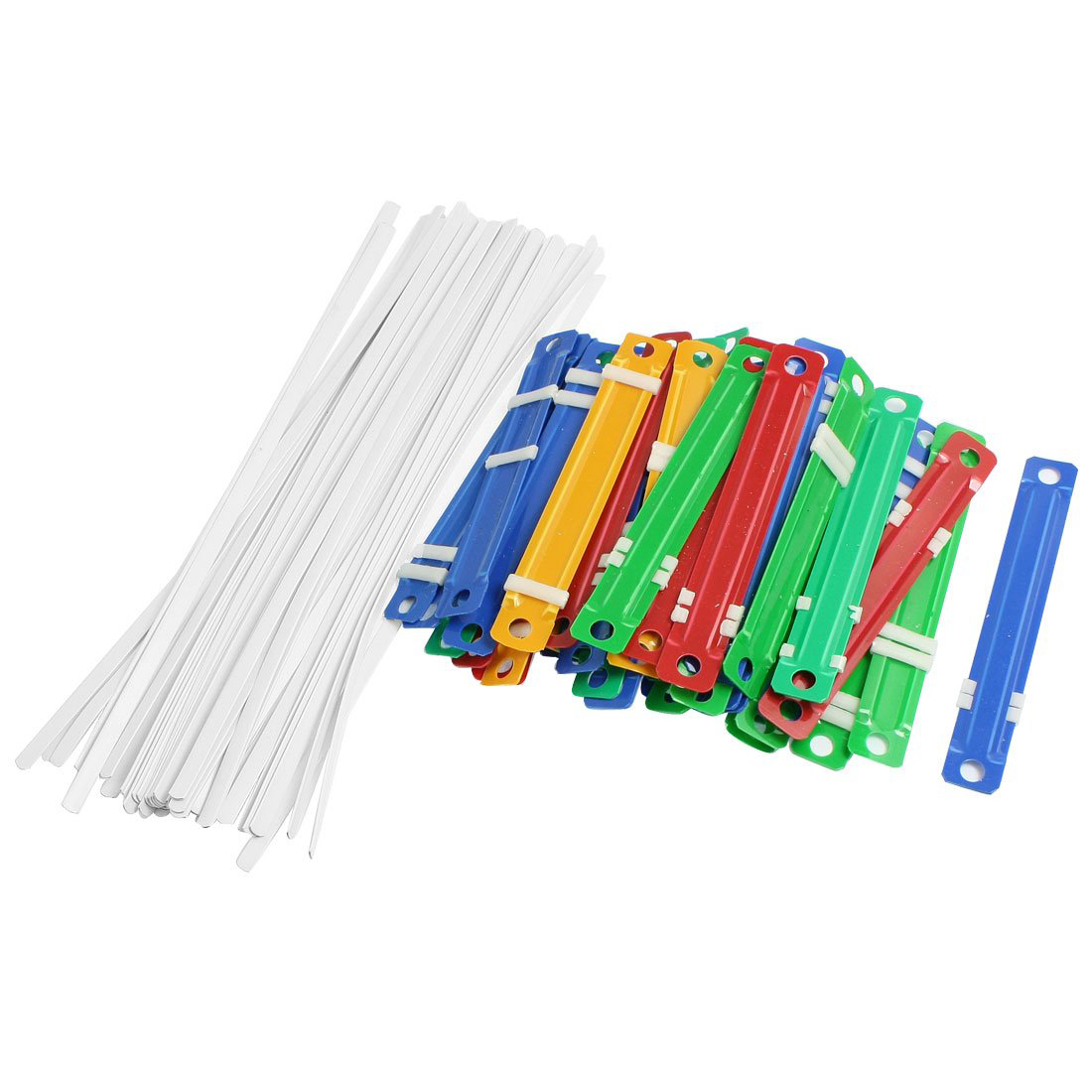 PPYY NEW - 50 Pcs Office School Colorful Plastic Binding Two-Piece Document Paper Fasteners