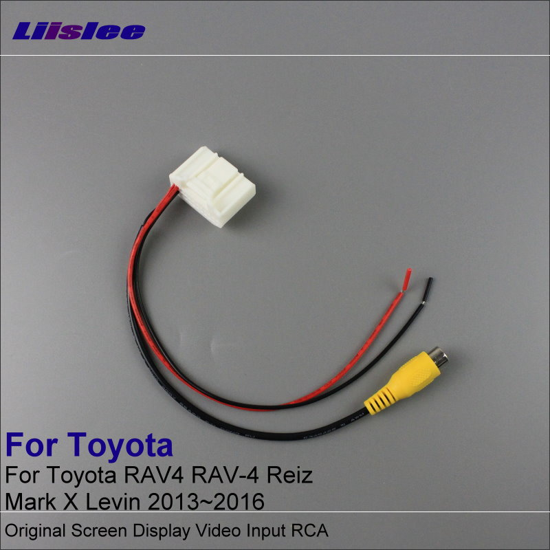 Liislee RCA Adaptor Kawat Untuk Toyota RAV4 RAV-4 Reiz Mark X Levin 2013 ~ 2016 Rear View Camera / Asli Display Input Kabel