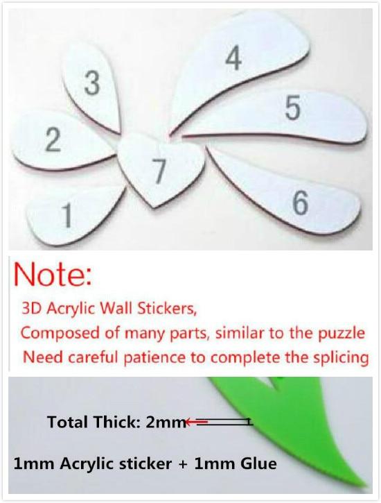 2017 3D tredimensionella väggklistermärken TV väggsoffa bakgrund - Heminredning - Foto 6