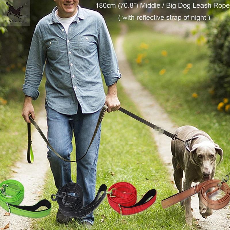 [Tailup] كبير الكلب المقاود حبل 180 سنتيمتر طبقة مزدوجة نايلون الصلبة الكلب سترة المقاود طوق الرصاص حبل ل كلب قوي الكلب الأوسط CL107