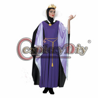 จัดส่งฟรีที่กำหนดเองทำที่ไม่ดีราชินีปีศาจราชินีสีม่วงdress