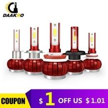 2 шт., Автомобильные светодиодные лампы H1 H4 H7H8 H9 H11 9005 9006 50 Вт лм