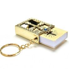 10 stücke Gold Silber Bibel Keychain Kreuz Keychain Echt Bibel als Geschenk für Taufe Heilige Kommunion Gäste Party Favors
