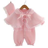 Baby Spitze Strampler 3 Stücke Set Neue Infant Prinzessin Kleid Ropa Bebe Kleidung Overalls Neugeborenen Mädchen Kleidung