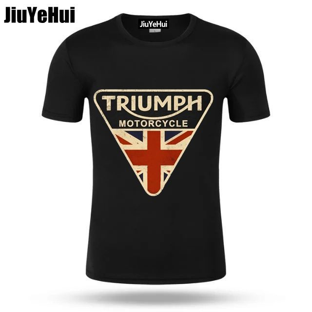 2018 Men T Shirts Craked Union Jack Triumph Motorcycle Shirt UK Flag  Clothing Men T Shirt Men s Vintage Tee Tops Branded Gifts d2e224e15418