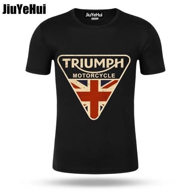 2018 Men   T     Shirts   Craked Union Jack Triumph Motorcycle   Shirt   UK Flag Clothing Men   T     Shirt   Men's Vintage Tee Tops Branded Gifts