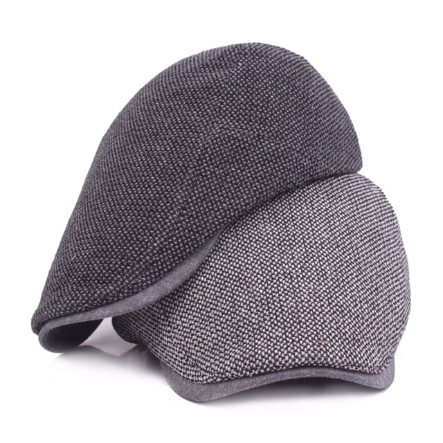 526eb094a85 Adjustable Beret Caps for Men Women Spring Summer Outdoor Breathable Bone  Brim Hats Herringbone Solid Sun Hat Flat