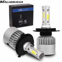 MALUOKASA 2Pcs H4 9003 HB2 9008 H13 9007 HB5 Hi Lo Beam Auto Car Headlight H7