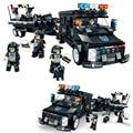 WOMA Полиция Серии SWAT Корпуса C0535 738 шт. Лодка Автомобилей Enlighten Рисунках Строительный Блок Устанавливает Образования DIY Кирпичи Детей Игрушки