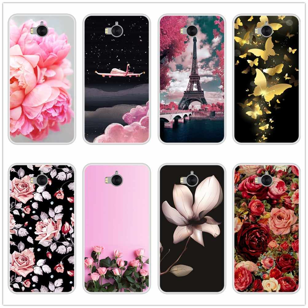 Phone Case For Huawei Y6 Y5 Y7 Prime 2017 2018 Y9 2019 Soft TPU Fashion Back Cover For Huawei Y3 Y5 Y6 II Y7 Pro Case Silicone