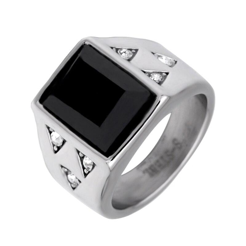 Bandoory rechteck stil mode-ring aus edelstahl für sowohl mann und frauen fahsion schmuck
