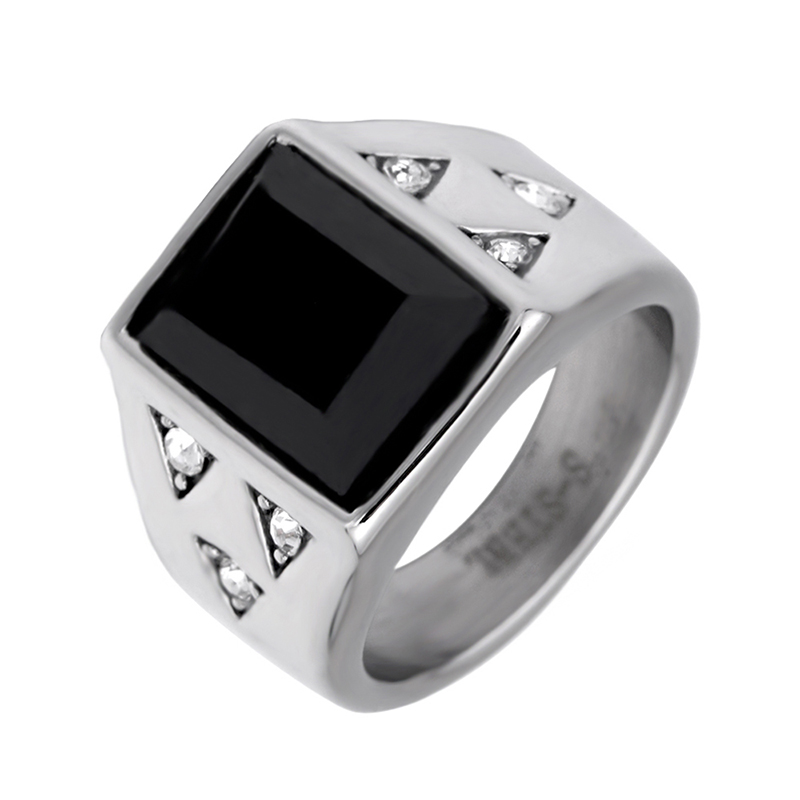 Bandoory rectangle style fashion ring made of stainless steel for both man and women fahsion jewelry