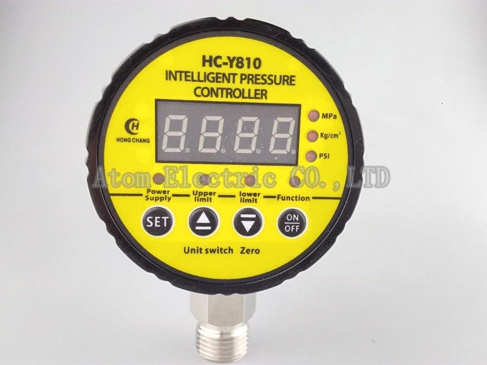380V AC Hydraulic Air Compressor Digital Pressure Switch 0-16Mpa M20 x 1.5 13mm male thread pressure relief valve for air compressor