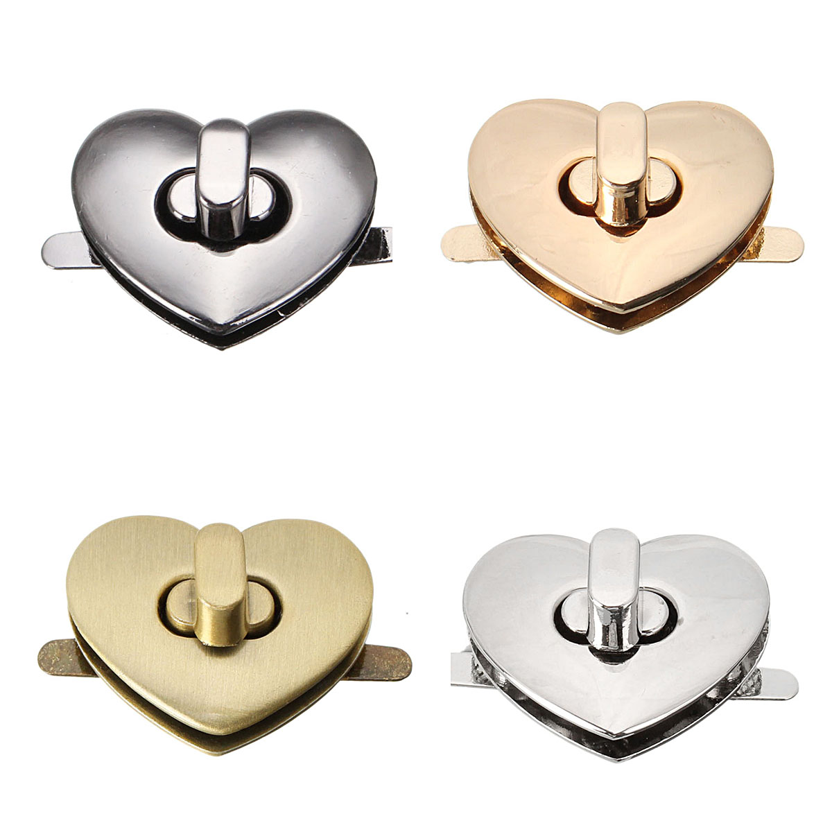 Osmond 32mm X 28mm Heart Shape Clasp Bronze Tone Trunk Lock Replacement Bag DIY Accessories Purse Snap Clasps/ Closure Locks osmond 37x25mm metal lock hardware cabinet boxes diy bag accessories latch catch toggle bags parts button clasp closure locks