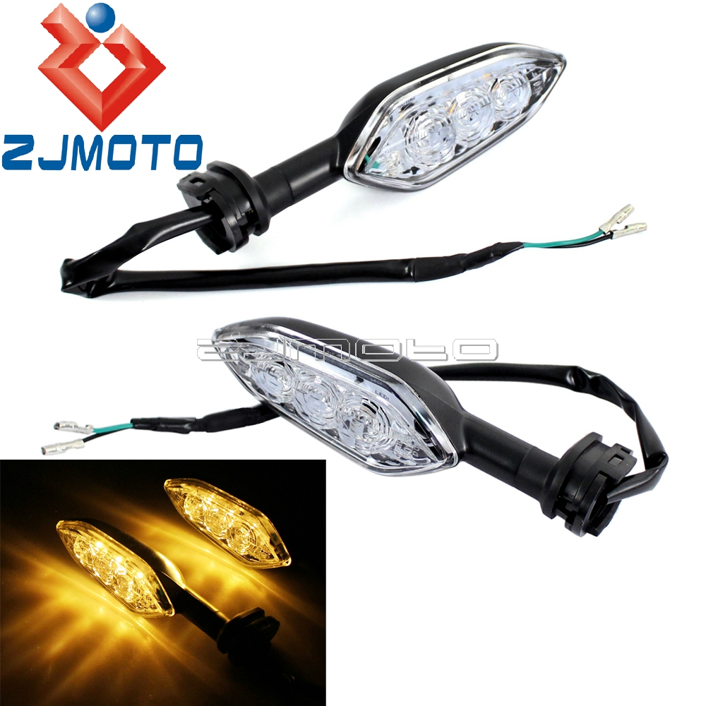 motorcycle led turn signal lights blinkers for yamaha yzf. Black Bedroom Furniture Sets. Home Design Ideas