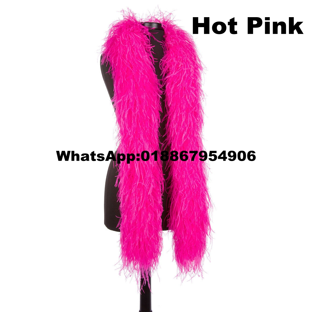 Online Shop 10 Meters Hot Pink Ostrich Feather Boas Lady Scarf for ...