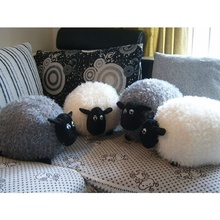 Soft Plush Toy for The Sheep Character White Gray Baby Cute Cartoon Toys Comfortable Cushion Pillow