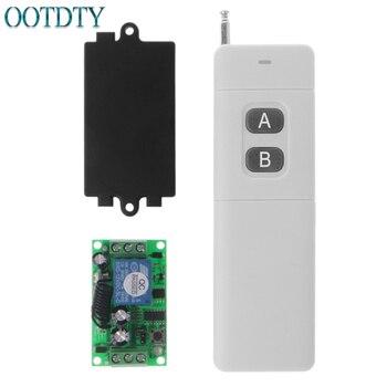 цена на 3000m Long Range DC 12V 2CH RF Wireless Remote Control Switch System 315 Mhz 2-Key Transmitter + Receiver