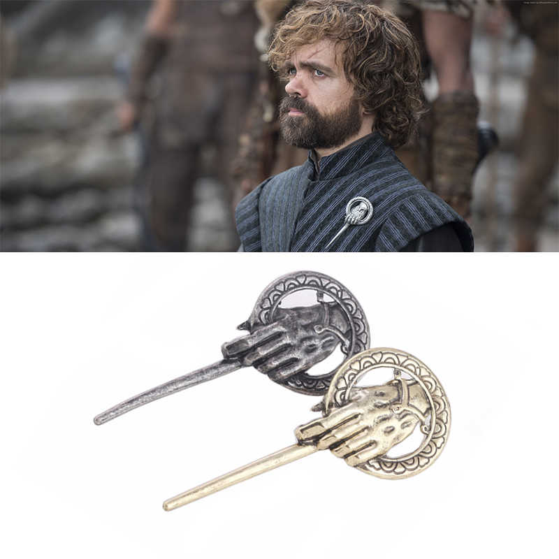 Game of Thrones Badge Mano del Re Cosplay Tyrion Lannister Spilla In Metallo Spille