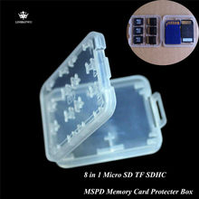Durable 8 in 1 Memory Card Protecter Box Micro SD TF SDHC MSPD Card Holder Box Storage Case Protector Free Shipping(China)
