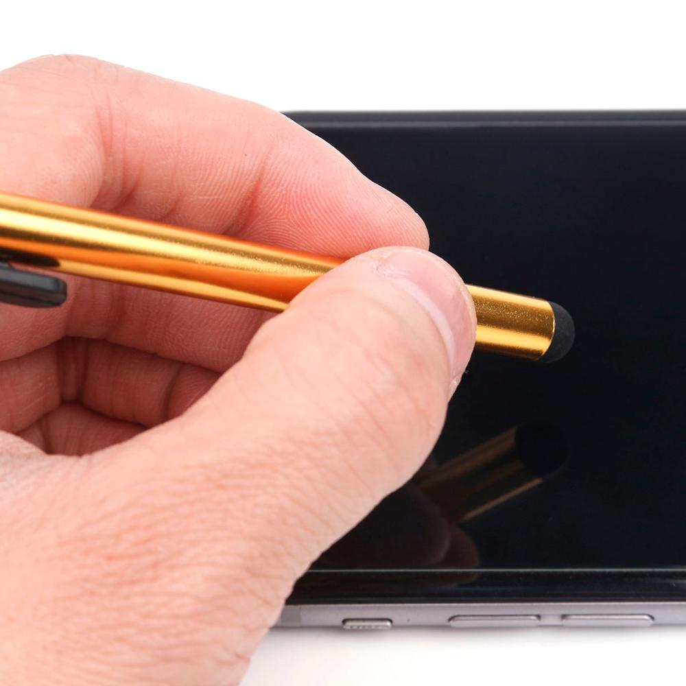 10pcs/lot Capacitive Pen Touch Screen Stylus Pen For IPad IPhone Universal Phone Samsung Tablet PC Tablet Metal Stylus Pencil
