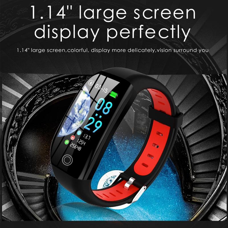 Nouveau populaire 1.14 ''grand écran IP68 étanche bracelets intelligents fitness Tracker Bracelet Bracelet intelligent pour Android et IOS