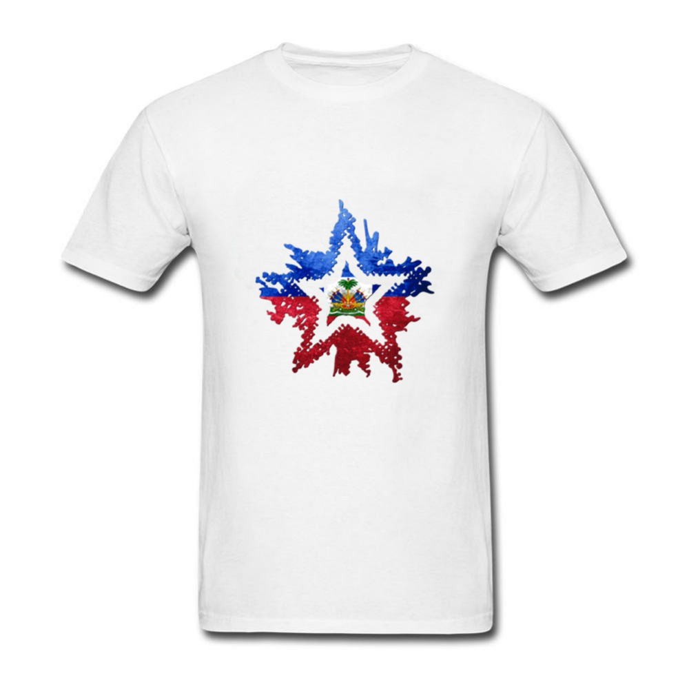 2019 New Star Haiti Flag T Shirt Brand Clothing Hip Hop Print Men T Shirt Short Sleeve Anime High Quality T-shirt Men Aesthetic Appearance