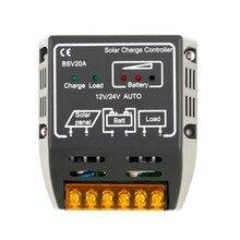 Controlador de Carga Todo o Mundo em Estoque! 20A 12 V e 24 V Painel Solar DA Bateria Regulador Proteção Seguro Quente em