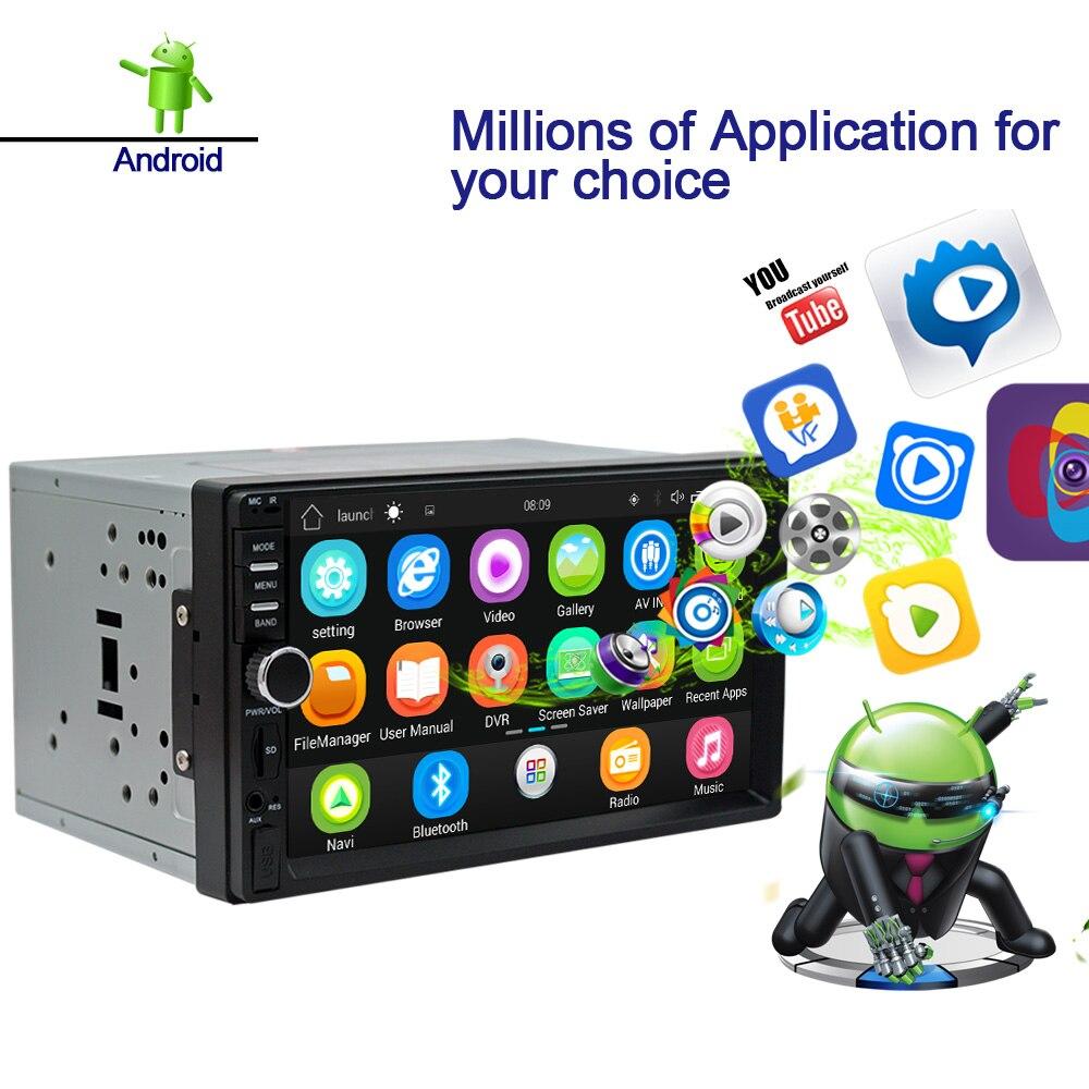 Rhythm 2 Din Car Radio Gps Navigation Android 6 0 Auto Bluetooth Double Din Multimedia Player