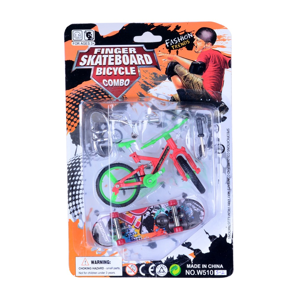 TOYANDONA Finger Skateboard Bikes Set Fingerboard Mini Skateboard Finger Bicycle Toy Set for Kids Toddler New Year Birthday Party Favor