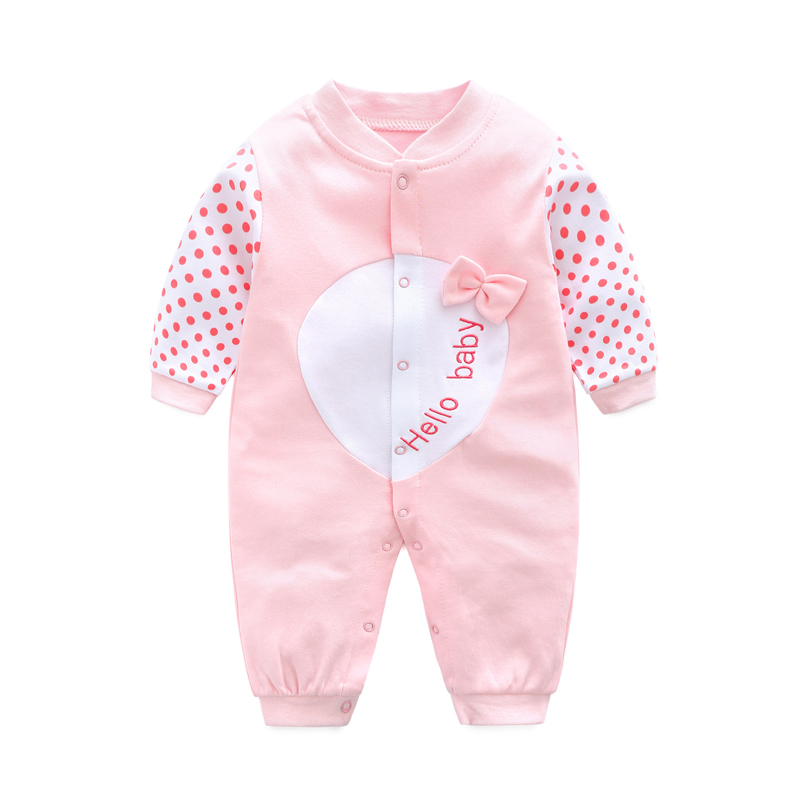 2017 Baby   Rompers   Long Sleeve Infant Newborn Baby Clothes Body Bebes Baby Clothing Overalls Cotton Cartoon Baby   Romper