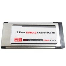 Стабильный USB 3,0 ноутбук Express Card компьютер износостойкий аксессуар адаптер конвертер домой 34 мм тетрадь Высокое скорость 2 порты и разъёмы