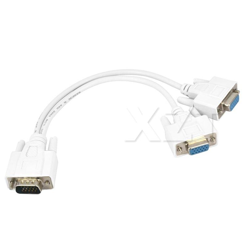 original 1 male vga to 2 female vga splitter cable 2 way vga svga monitor dual video graphic lcd