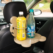 1 Piece Cute Cartoon Animal Shaped Car Back Seat Folding Table Drinks Food Cup Holder Multi-functional Tray