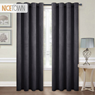 NICETOWN European and American Style Grommet Velvet Blackout Room Darkening Curtains /Drapes for Livingroom, Single Panel