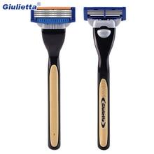 1 ручка+ 2 лезвия. Высококачественные мужские бритвы для ухода за лицом, кассеты для бритья, мужские лезвия для бритья, совместимые с gillettee Mache 3