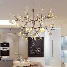 2017 Neue Heiße Glanz Rose Gold Eisen Vintage Glühwürmchen Schlafzimmer  Lampe LED Pendelleuchten Top Neuheit Innenbeleuchtung Gl.