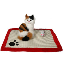 Kitten Cat Scratcher Scratching Post Claws Mat Cat Pad Interactive Toy For Pet Training