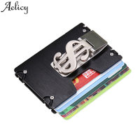 Aelicy Metal Wallet Mini Money Clip Brand Credit Card ID Holder With RFID Anti-chief Wallet 2019 New Design Solid Male Wallet L