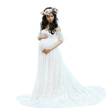 Maternity Photography Props Pregnancy Dress Photography Maternity Dresses For Photo Shoot Pregnant Dress Lace Gown maternity