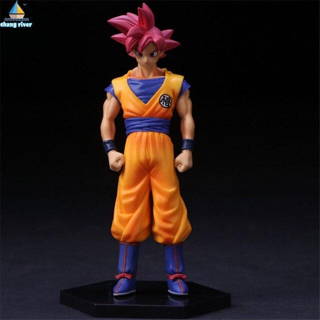 Chang River Super Saiyan God Dragon Ball Z Son Goku Action Figures PVC Figurines