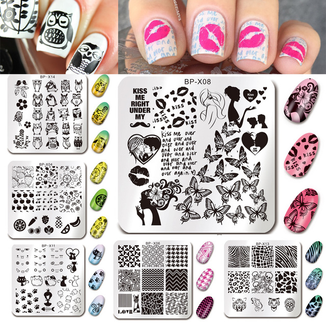 BORN PRETTY 15Pcs Nail St&ing Plate Square Animal Manicure Geometry Nail Art St& Image Print Template  sc 1 st  AliExpress.com & BORN PRETTY 15Pcs Nail Stamping Plate Square Animal Manicure ...