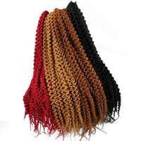 Curly Crochet Braid 18 22 Inch Jamaican Bounce Crochet Hair Synthetic Braiding Hair 24 Roots