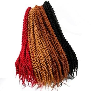 Curly Crochet Braid 18 22 Inch Jamaican Bounce Crochet Hair Synthetic Braiding Hair 24 Roots недорого