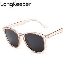 LongKeeper Fashion Polygon Sunglasses Women Luxury Brand Cat Eye Sun Glasses Big Frame Shades Eyewear UV400 Gafas De Sol
