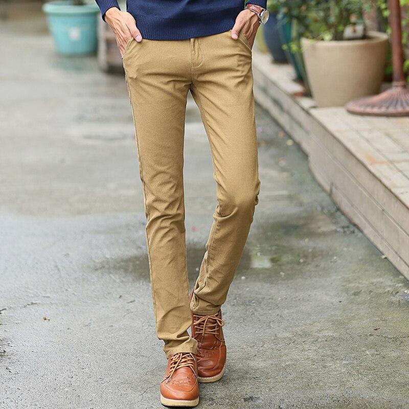 2017 High Qulity Men's Cotton Fashion joggers Men Casual Slim Style Feet Pants  men's clothing Black - Online Buy Wholesale Mens Skinny Khaki Pants From China Mens