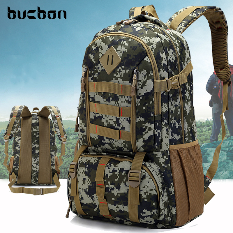 Bucbon Quality Large Waterproof Military Tactical Backpack Hunting Hiking Camping Rucksack Army Backpack Sport Bags HAB337