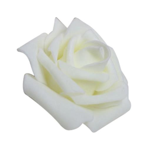 100 PCS Mousse Rose Fleur Bourgeon De Mariage Parti Décorations Artificielle De la Fleur Diy Craft Blanc Crème